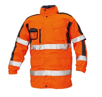 Reflexní pracovní oděvy pro cestáře - pracovní bunda TRIPURA - O200348