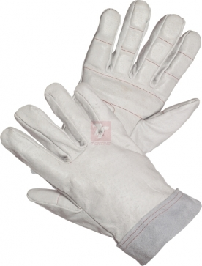 Kožené pracovní rukavice - pracovní rukavice celokožené - 1021