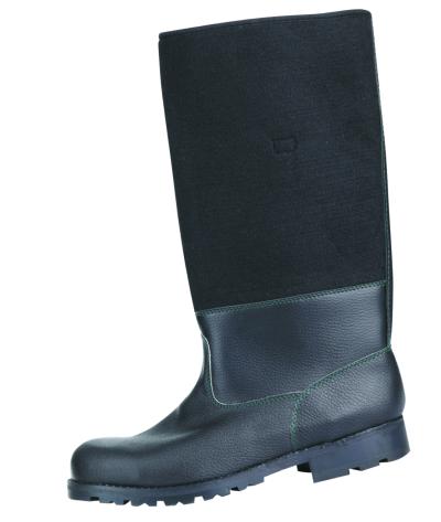 Zateplená zimní pracovní obuv - pracovní holínky KOŽENOFILC - 3045