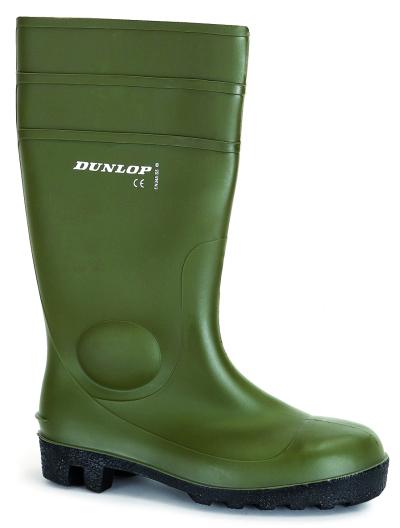 Pracovní gumové holínky - pracovní holínky DUNLOP PROTOMASTOR GREEN S5 - 3656