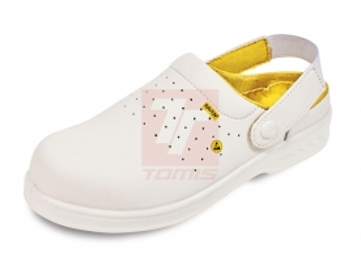 Pracovní obuv - pracovní obuv sandál RAVEN ESD CLOG OB SRC bílá - B300404