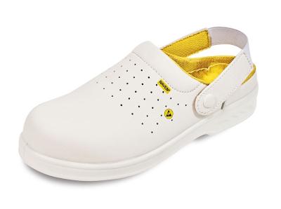 pracovní obuv sandál RAVEN ESD CLOG OB SRC bílá - B300404