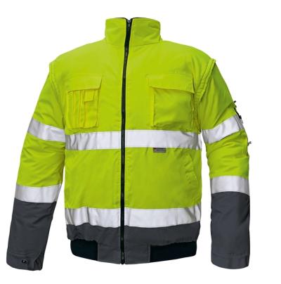 Reflexní pracovní oděvy pro cestáře - pracovní bunda CLOVELLY PILOT - 2287