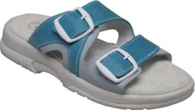Zdravotní pracovní obuv (bílá) - pracovní pantofel dámský, pánský SANTÉ tyrkysový - B300472