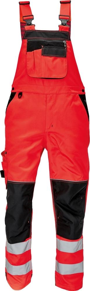 Montérkové kalhoty s laclem - pracovní kalhoty lacl KNOXFIELD HI-VIS - O202503