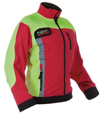 Neprořezné pracovní oděvy do lesa - pracovní bunda softshellová protipořezová FOREST PROFI STRECH - O202570