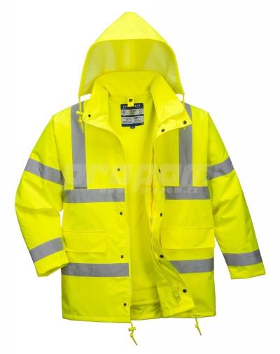 Nepromokavé pracovní oděvy do deště - pracovní bunda Traffic Hi-Vis 4v1 - O200004