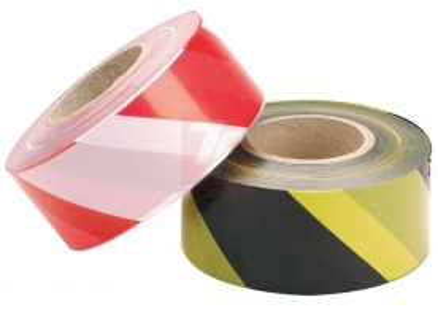 silniční bariéry, pásky - páska červeno-bílá 100 m - 4554