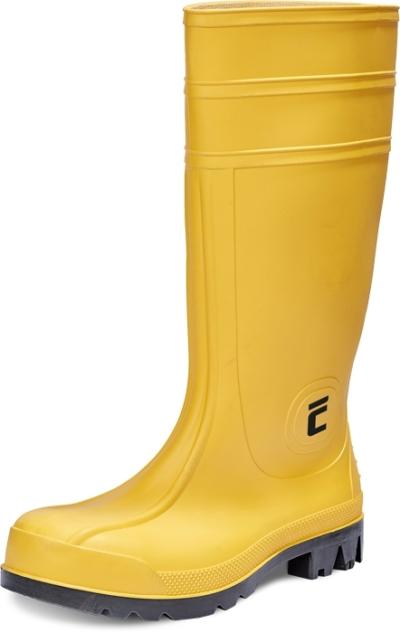 Pracovní obuv - pracovní holinky BC SAFETY S5 SRC, žlutá - B300633