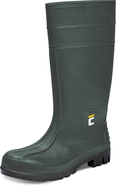 Pracovní obuv - pracovní holínky BC SAFETY S5 SRC, zelená - B300576