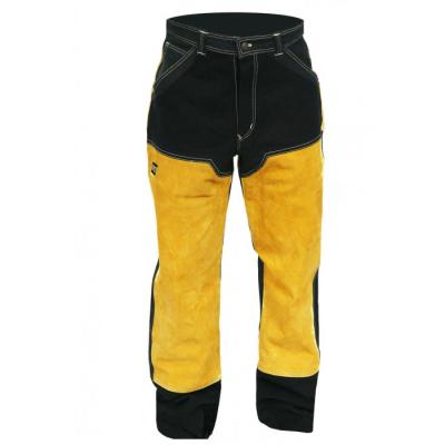 Ohnivzdorné - nehořlavé pracovní oděvy a pomůcky - pracovní kalhoty svařovací ESAB kůže/proban - O203616