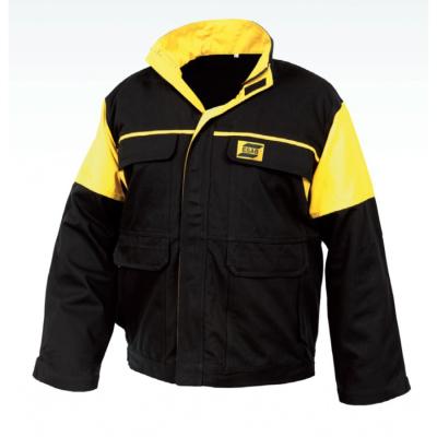 Ohnivzdorné - nehořlavé pracovní oděvy a pomůcky - pracovní bunda svařovací ESAB FR černá/žlutá - O203579