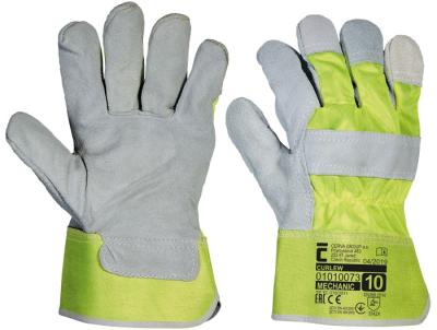 Kombinované pracovní rukavice - pracovní rukavice CURLEW žluté - 1389