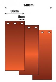 svařovací pásková zástěna tmavě červená ESAB 1,8 x 1,4 m (DIN 6) - P400943