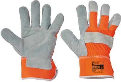 Kombinované pracovní rukavice - pracovní rukavice CURLEW oranžové - 1393