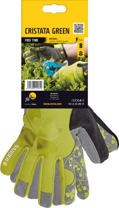 Pracovní rukavice CRISTATA zelené - 1404