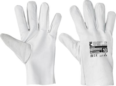 Kožené pracovní rukavice - pracovní rukavice HAWK - 1022