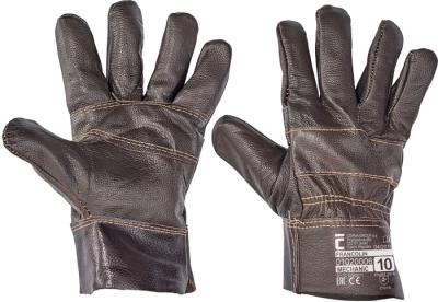 Kožené pracovní rukavice - pracovní rukavice FRANCOLIN - 1109