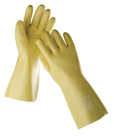 Povrstvené pracovní rukavice - máčené - pracovní rukavice STANDARD žluté vel. 10 - 1068