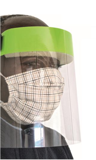 Ochranné obličejové štíty - lehký obličejový štít čirý L - P401138