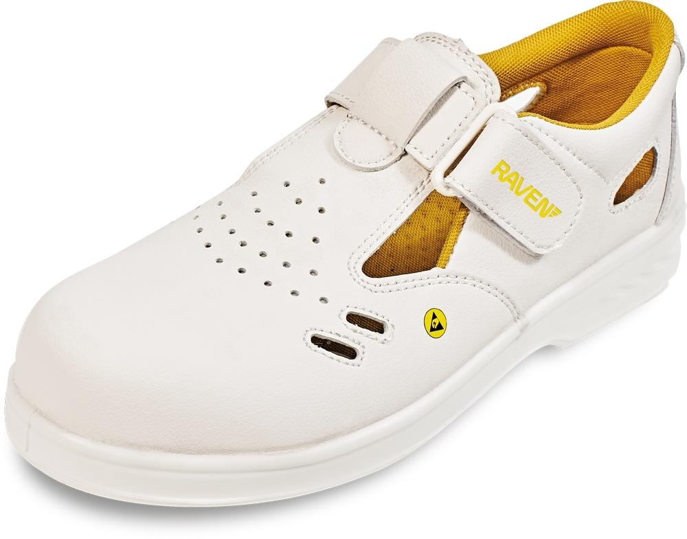 pracovní obuv sandál RAVEN ESD S1 SRC bílá - B300614